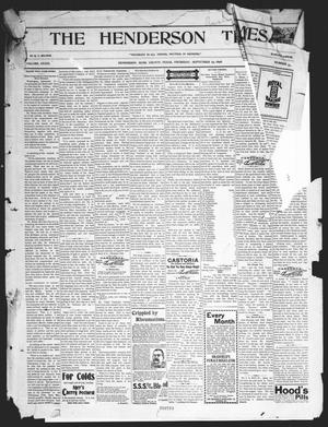 Primary view of object titled 'The Henderson Times.  (Henderson, Tex.), Vol. 39, No. 40, Ed. 1 Thursday, September 29, 1898'.