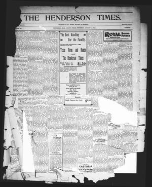 Primary view of object titled 'The Henderson Times.  (Henderson, Tex.), Vol. 40, No. 2, Ed. 1 Thursday, January 12, 1899'.