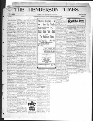 The Henderson Times.  (Henderson, Tex.), Vol. 40, No. 5, Ed. 1 Thursday, February 2, 1899