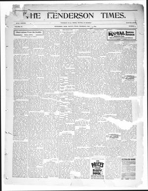 Primary view of object titled 'The Henderson Times.  (Henderson, Tex.), Vol. 40, No. 9, Ed. 1 Thursday, March 2, 1899'.