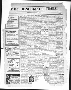 Primary view of object titled 'The Henderson Times.  (Henderson, Tex.), Vol. [40], No. 17, Ed. 1 Thursday, April 27, 1899'.