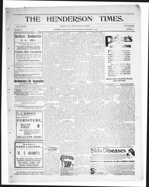 Primary view of object titled 'The Henderson Times.  (Henderson, Tex.), Vol. 41, No. 36, Ed. 1 Thursday, September 13, 1900'.