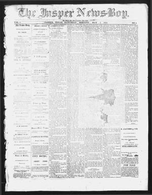 Primary view of object titled 'The Jasper News-Boy (Jasper, Tex.), Vol. 5, No. 5, Ed. 1 Saturday, May 7, 1870'.