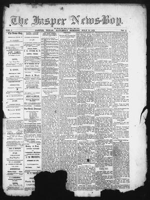 Primary view of object titled 'The Jasper News-Boy (Jasper, Tex.), Vol. 6, No. 15, Ed. 1 Saturday, July 15, 1871'.