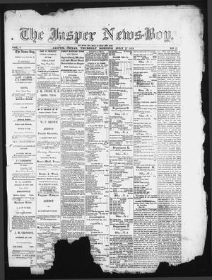 Primary view of object titled 'The Jasper News-Boy (Jasper, Tex.), Vol. 6, No. 17, Ed. 1 Thursday, July 27, 1871'.