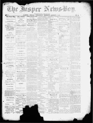 Primary view of object titled 'The Jasper News-Boy (Jasper, Tex.), Vol. 6, No. 18, Ed. 1 Thursday, August 3, 1871'.