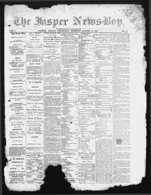 Primary view of object titled 'The Jasper News-Boy (Jasper, Tex.), Vol. 6, No. 21, Ed. 1 Thursday, August 24, 1871'.