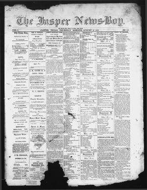Primary view of object titled 'The Jasper News-Boy (Jasper, Tex.), Vol. 6, No. 22, Ed. 1 Thursday, August 31, 1871'.