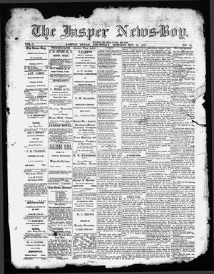Primary view of object titled 'The Jasper News-Boy (Jasper, Tex.), Vol. 6, No. 35, Ed. 1 Thursday, November 30, 1871'.