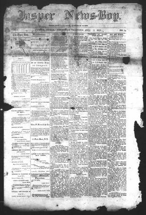 Primary view of object titled 'The Jasper News-Boy (Jasper, Tex.), Vol. 7, No. 14, Ed. 1 Thursday, July 11, 1872'.