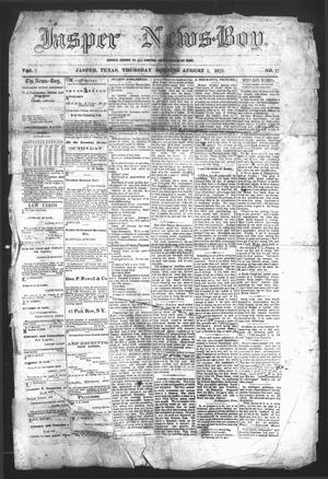 Primary view of object titled 'The Jasper News-Boy (Jasper, Tex.), Vol. 7, No. 17, Ed. 1 Thursday, August 1, 1872'.
