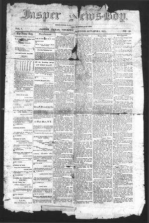 Primary view of object titled 'The Jasper News-Boy (Jasper, Tex.), Vol. 7, No. 24, Ed. 1 Thursday, October 3, 1872'.