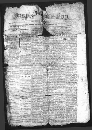 Primary view of object titled 'The Jasper News-Boy (Jasper, Tex.), Vol. 7, No. 26, Ed. 1 Thursday, October 17, 1872'.