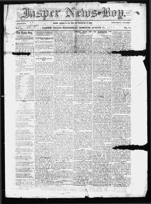 Primary view of object titled 'The Jasper News-Boy (Jasper, Tex.), Vol. 8, No. 14, Ed. 1 Wednesday, August 27, 1873'.