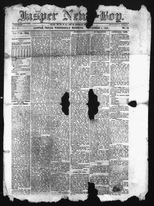 Primary view of object titled 'The Jasper News-Boy (Jasper, Tex.), Vol. 8, No. 19, Ed. 1 Wednesday, October 1, 1873'.
