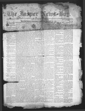 Primary view of object titled 'The Jasper News-Boy (Jasper, Tex.), Vol. 8, No. 32, Ed. 1 Wednesday, January 14, 1874'.