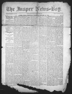 Primary view of object titled 'The Jasper News-Boy (Jasper, Tex.), Vol. 8, No. 33, Ed. 1 Wednesday, January 21, 1874'.