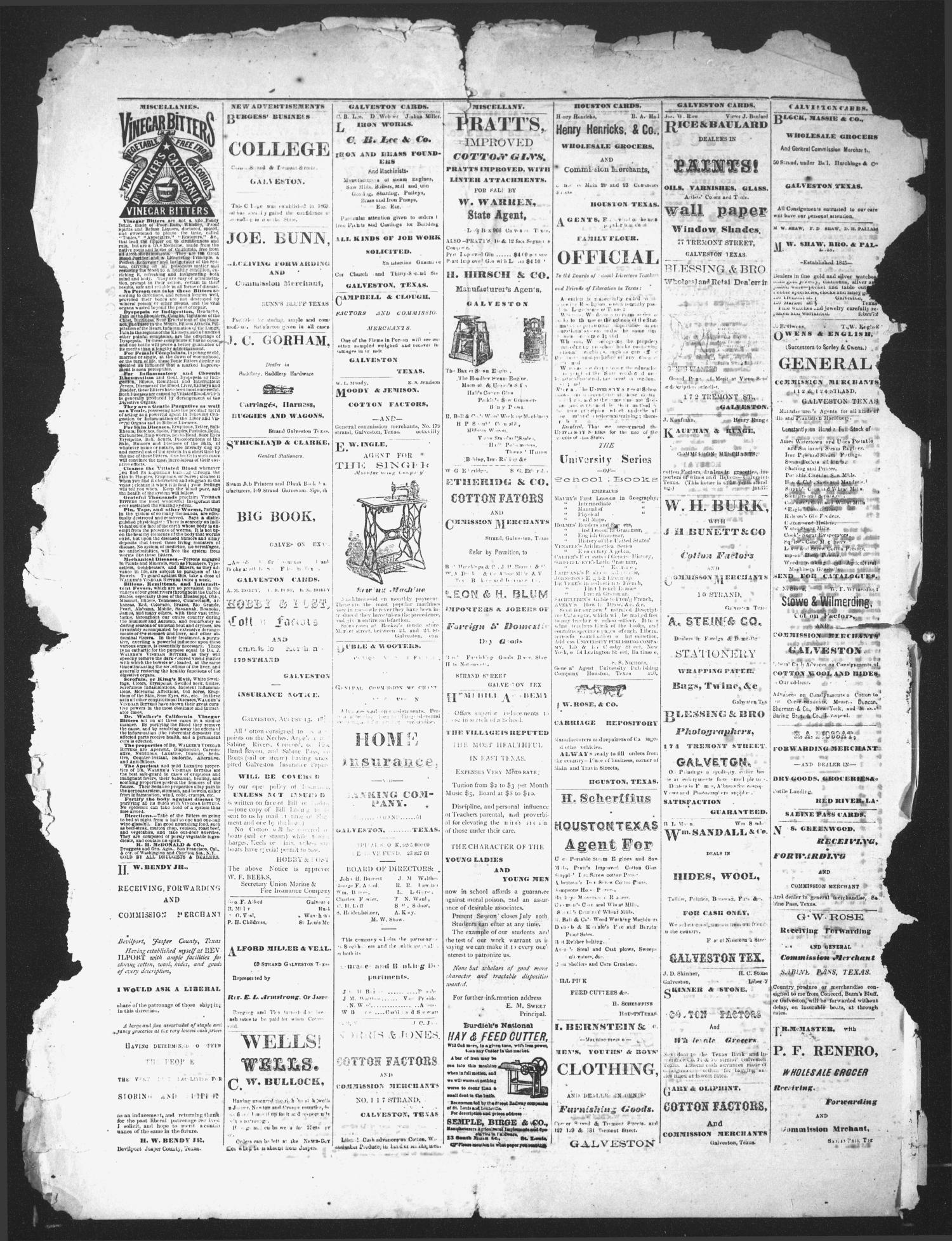 The Jasper News-Boy (Jasper, Tex.), Vol. 10, No. 15, Ed. 1 Wednesday, September 2, 1874                                                                                                      [Sequence #]: 4 of 4