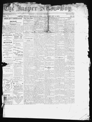 Primary view of object titled 'The Jasper News-Boy (Jasper, Tex.), Vol. 10, No. 35, Ed. 1 Wednesday, February 3, 1875'.