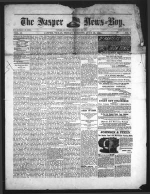 Primary view of object titled 'The Jasper News-Boy (Jasper, Tex.), Vol. 17, No. 7, Ed. 1 Friday, July 15, 1881'.