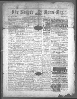 Primary view of object titled 'The Jasper News-Boy (Jasper, Tex.), Vol. 17, No. 25, Ed. 1 Friday, November 18, 1881'.