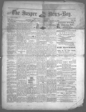 Primary view of object titled 'The Jasper News-Boy (Jasper, Tex.), Vol. 17, No. 39, Ed. 1 Friday, March 3, 1882'.