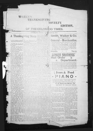 Primary view of object titled 'The Colorado Times (Colorado, Tex.), Ed. 1 Thursday, November 26, 1896'.