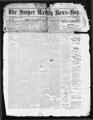 Primary view of object titled 'The Jasper Weekly News-Boy (Jasper, Tex.), Vol. 12, No. 35, Ed. 1 Thursday, February 24, 1876'.