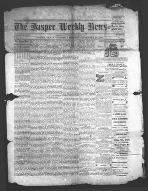 Primary view of object titled 'The Jasper Weekly News-Boy (Jasper, Tex.), Vol. 14, No. 11, Ed. 1 Thursday, September 20, 1877'.