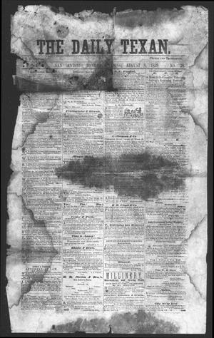 Primary view of object titled 'The Daily Texan (San Antonio, Tex.), Vol. 2, No. 28, Ed. 1 Monday, August 8, 1859'.