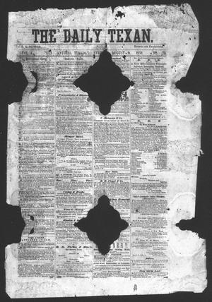 Primary view of object titled 'The Daily Texan (San Antonio, Tex.), Vol. 2, No. 29, Ed. 1 Tuesday, August 9, 1859'.