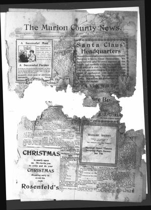 Primary view of object titled 'The Marion County News. (Jefferson, Tex.), Vol. 1, No. 16, Ed. 1 Thursday, December 5, 1912'.