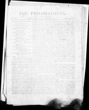 Primary view of object titled 'The Philomathean (Chappell Hill, Tex.), Vol. 1, No. 2, Ed. 1 Monday, February 1, 1886'.