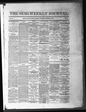 The Semi-Weekly Journal (Belton, Tex.), Vol. 4, No. 11, Ed. 1 Saturday, March 19, 1870