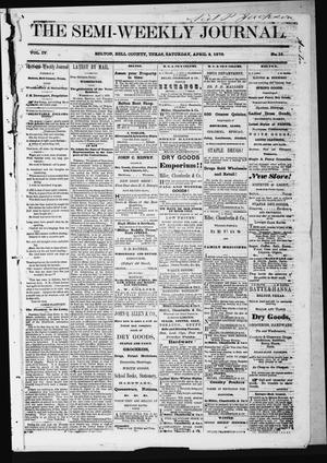 The Semi-Weekly Journal (Belton, Tex.), Vol. 4, No. 16, Ed. 1 Saturday, April 9, 1870