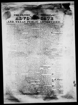 Primary view of object titled 'The Constitutional Advocate and Texas Public Advertiser. (Brazoria, Tex.), Vol. 1, Ed. 1 Wednesday, September 5, 1832'.
