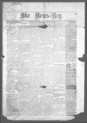Primary view of object titled 'The News=Boy (Jasper, Tex.), Ed. 1 Friday, January 30, 1885'.