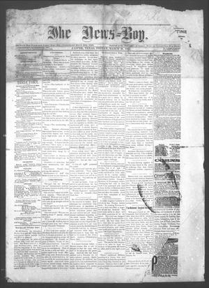 Primary view of object titled 'The News=Boy (Jasper, Tex.), Ed. 1 Friday, March 20, 1885'.