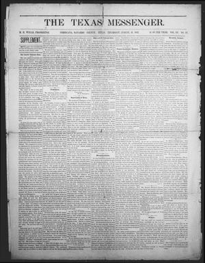Primary view of object titled 'The Texas Messenger (Corsicana, Tex.), Vol. 3, No. 32, Ed. 1 Thursday, August 31, 1882'.