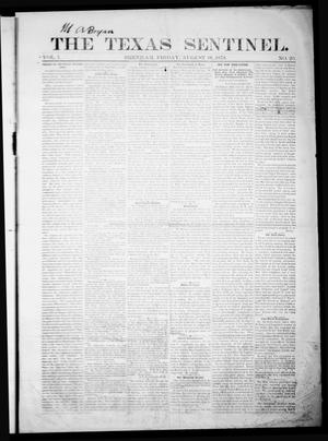 Primary view of object titled 'The Texas Sentinel. (Brenham, Tex.), Vol. 1, No. 20, Ed. 1 Friday, August 16, 1878'.