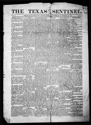 Primary view of object titled 'The Texas Sentinel. (Brenham, Tex.), Vol. 4, No. 35, Ed. 1 Wednesday, November 16, 1881'.