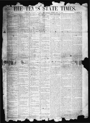 Primary view of object titled 'The Texas State Times (Austin, Tex.), Vol. 1, No. 12, Ed. 1 Saturday, February 18, 1854'.