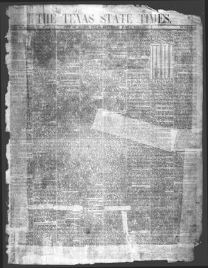 Primary view of object titled 'The Texas State Times (Austin, Tex.), Vol. 1, No. 27, Ed. 1 Saturday, June 3, 1854'.