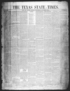 Primary view of object titled 'The Texas State Times (Austin, Tex.), Vol. 1, No. 45, Ed. 1 Saturday, October 7, 1854'.