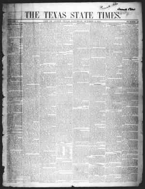The Texas State Times (Austin, Tex.), Vol. 1, No. 46, Ed. 1 Saturday, October 14, 1854