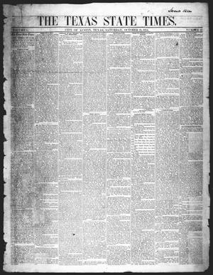 Primary view of object titled 'The Texas State Times (Austin, Tex.), Vol. 1, No. 47, Ed. 1 Saturday, October 21, 1854'.
