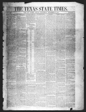 Primary view of object titled 'The Texas State Times (Austin, Tex.), Vol. 1, No. 51, Ed. 1 Saturday, November 18, 1854'.