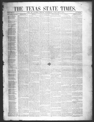 Primary view of object titled 'The Texas State Times (Austin, Tex.), Vol. 2, No. 5, Ed. 1 Saturday, January 6, 1855'.