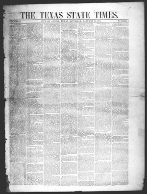 Primary view of object titled 'The Texas State Times (Austin, Tex.), Vol. 2, No. 6, Ed. 1 Saturday, January 13, 1855'.