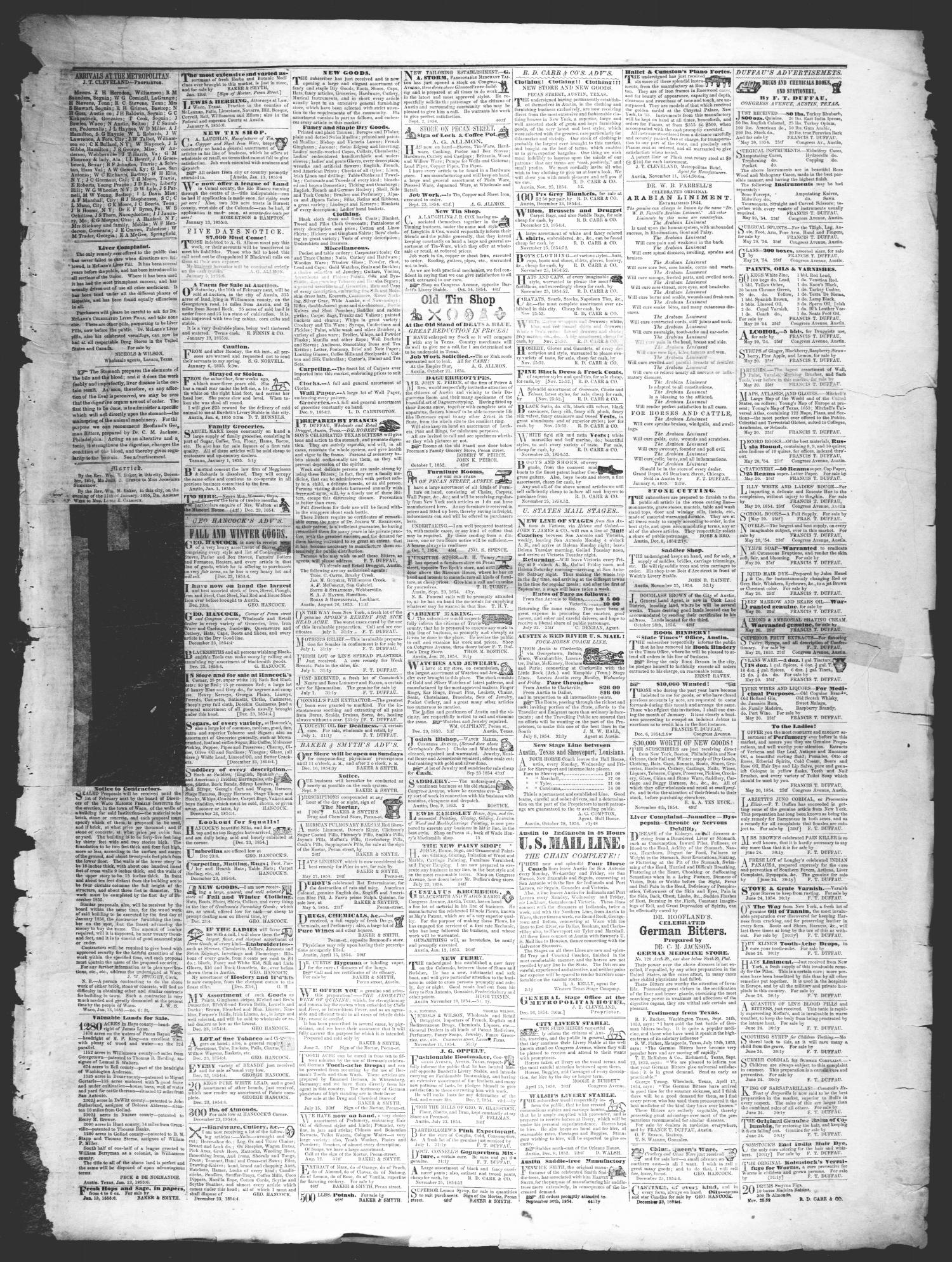 The Texas State Times (Austin, Tex.), Vol. 2, No. 6, Ed. 1 Saturday, January 13, 1855                                                                                                      [Sequence #]: 3 of 4